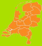 De mini kaart van Nederland